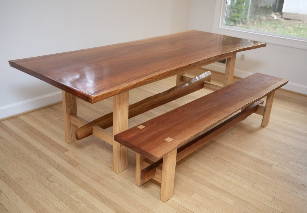 Peachy Cherry And Ash Dining Table And Bench Download Free Architecture Designs Rallybritishbridgeorg